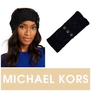 Michael Kors Patchwork Cable-Knit Headband